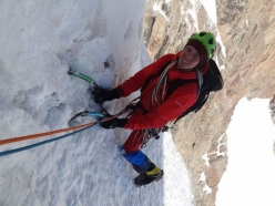 Michael Zwölfer climbing Pik Zuckermann (5045m)