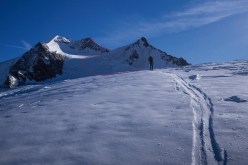 Wildspitze: the line of ascent