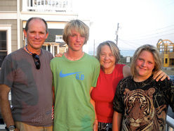 Alan Watts with his family in 2009