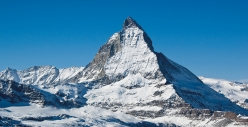 Ski touring, steep skiing: the East Face of the Matterhorn