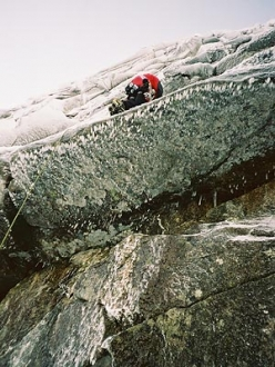 Alan Mullin running it out above the roof on Crazy Sorrow, Lochnagar