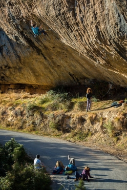 Stefano Ghisolfi climbing First Ley 9a+ a Margalef