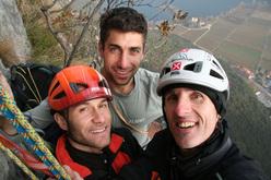 Tiziano Buccella, Geremia Vergoni and Rolando Larcher