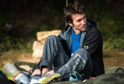 Italian climber Stefano Ghisolfi at Margalef in Spain, shortly before the 4th ascent of 'First Round First Minute' 9b