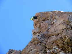Rock climbing at Frey in Patagonia: the amazing prow on