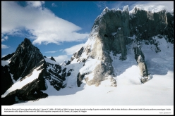 During the historic first ascent of Cerro Murallon in Patagonia, carried out in 1984 by the Ragni di Lecco climbers Carlo Aldè, Casimiro Ferrari and Paolo Vitali.