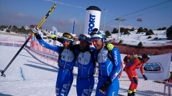 Robert Antonioli, Michele Boscacci and Nadir Maguet win the Sprint race at Erzincan in Turkey.
