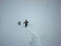 Scendendo sul ghiacciaio....