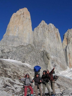 Riders on the storm, Torres del Paine: The team ready to start