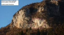 The crag Corna Rossa di Brattoand the new sector Solarium