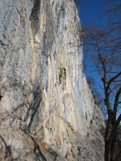 Climbing at Corna Rossa di Bratto