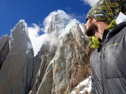 Kim Ladiges looking back to Cerro Torre