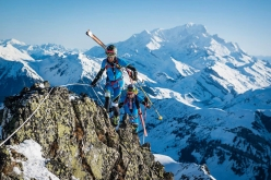 Matteo Eydallin & Damiano Lenzi racing to victory in the Pierra Menta 2017 ski mountaineering competition