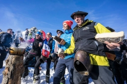 During the last stage of the Pierra Menta 2017 ski mountaineering competition