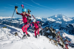 Laetitia Roux and Emelie Forsberg winning the Pierra Menta 2017 ski mountaineering competition