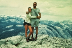 Liz Robbins e Royal Robbins in cima a Half Dome, Yosemite