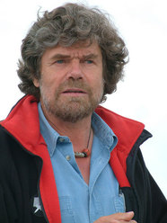 Reinhold Messner at the Messner Mountain Museum Dolomites on Monte Rite (Dolomites, Italy)