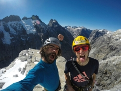 Paolo Marazzi and Luca Schiera on the summit of Cerro Mariposa on 16/03/2017 after having forged a new route up the mountain's NE Face in two days.