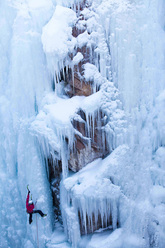 Ines Papert at the Ouray Ice Festival 2010