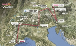 The route of Red Bull X-Alps 2017