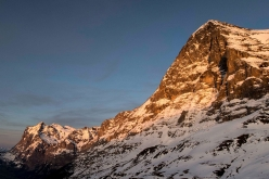 The North Face of the Eiger. In 1974 Peter Habeler climbed the Heckmair route in a record time of 10 hours together with Reinhold Messner. Now the 74-year-old has climbed the mountain once again, this time with David Lama