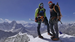 Ueli Steck and Tenji Sherpa on Island Peak