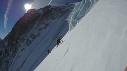 Ueli Steck training with David Göttler and Colin Haley in the Mont Blanc massif