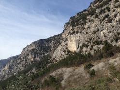 The crag Pizzera at Dro, close to Arco, Italy