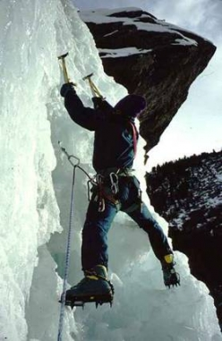 Ice climbing at Cogne
