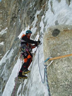 No Siesta: Robert Jasper and Markus Stofer climb the great route up the North Face of the Grandes Jorasses from 17 to 19 March 2003