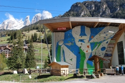 The ADEL climbing wall at Campitello di Fassa, Italy which will host the IFSC Climbing European Championships from 29 June to 1 July 2017