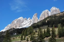 The view from Campitello di Fassa