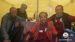 Nives Meroi e Romano Benet together with Alberto Zerain and Jonatan García, Annapurna Base Camp in mid April 2017