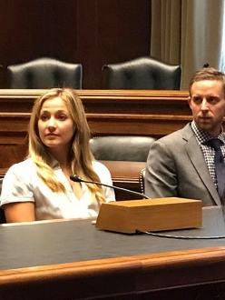 Sasha DiGiulian and Tommy Caldwell at the Senate lobbying to protect America's National Monuments