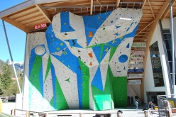 The ADEL climbing wall at Campitello di Fassa, Italy that from 29 June to 1 July will host the IFSC Climbing European Championships