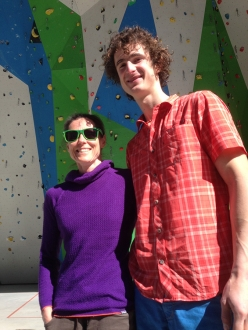 Laurence Guyon, winner of Rock Master 1995, together with three times Rock Master winner Adam Ondra at Campitello di Fassa