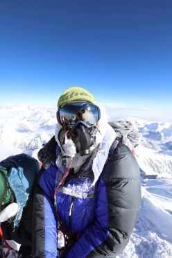 Tim Mosedale on the summit of Everest for the 6th time on 16/05/2017