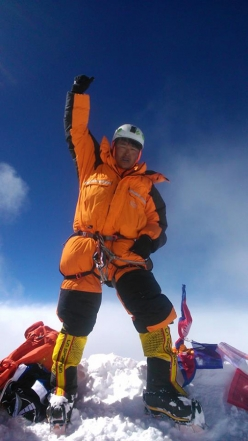 Pemchhiri Sherpa on the summit of Everest for the 11th time