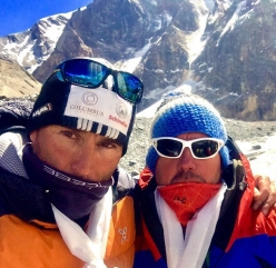 Marco Confortola and Mario Casanova. on 20 May 2017 the two summited Dhaulagiri (8167m)