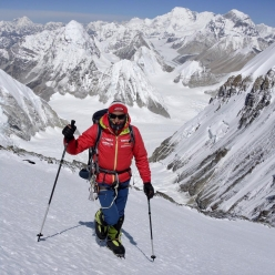 German mountaineer Ralf Dujmovits in May 2017 during his attempt to climb Everest without supplementary oxygen