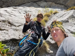 Silvestro Franchini and Tomas Franchini repeating King of the Bongo, Qualido, Val di Mello
