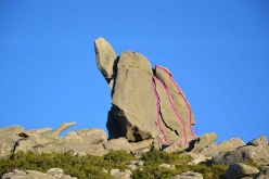 Guglia Spèra on Monte Limbara, Sardinia, and its single pitch trad climbs
