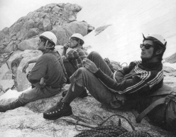 Mick Burke, Mike Kosterlitz and Martin Boysen on the Dru Rognon