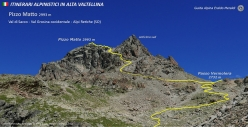 The normal route up Pizzo Matto in Val Grosina