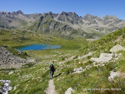 Pizzo Matto in Val Grosina: descending towards Pian del Lago