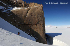 Big Mountain – small man. Antarctica is a mountaineer's paradise.