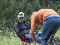 Aaron Durogati (ITA1) recovers during Red Bull X-Alps in Sankt Johann im Pongau, Austria on July 3, 2017
