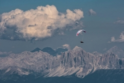Paul Guschlbauer flying on day 5 of Red Bull X-Alps 2017