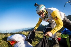 Christian Maurer during Red Bull X-Alps 2017