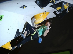 Domen Skofic competing in the European Climbing Championship Campitello 2017